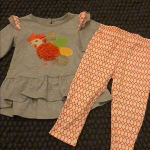 Euc fall two piece outfit 18 mo
